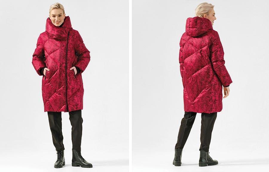 Финское пальто Dixi Coat 585-164 с принтом